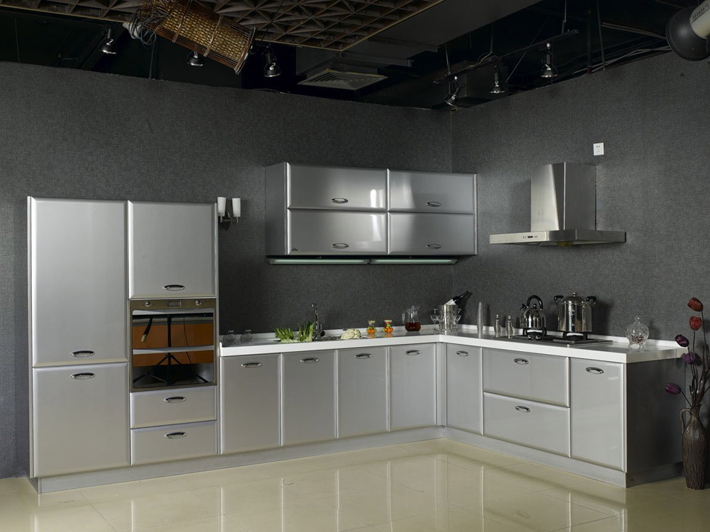 Modular stainless steel kitchen cabinets ... decorating your home decoration with good vintage stainless steel  kitchen cabinet rtaipjm