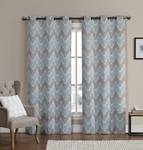 Modular thermal blackout curtains ruthys-textile-2-piece-printed-thermal-blackout-window- jxqktcb