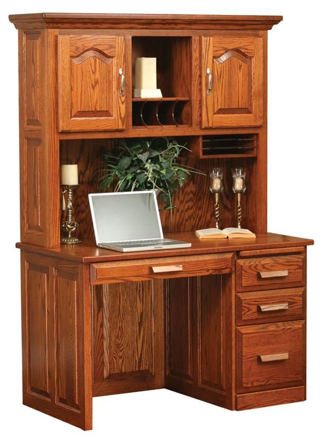 New amish flat top computer desk with hutch top 48 bkejxnh