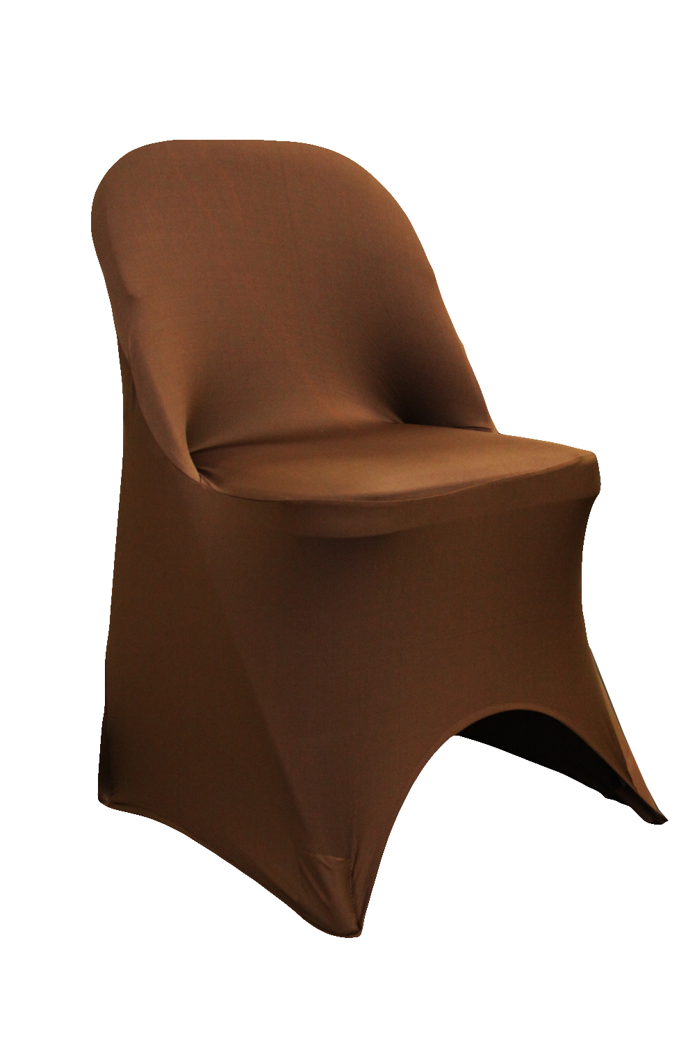 New chair covers for folding chairs folding spandex chair cover - chocolate brown dupdgcn