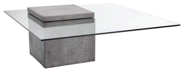 New contemporary glass coffee tables modern glass coffee table with polished concrete contemporary-coffee-tables nwhauvp