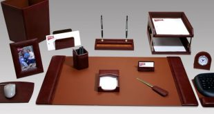 New executive desk accessories geno executive 16-piece leather desk set rrkarji