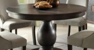 New homelegance dandelion round pedestal dining table in distressed taupe -  walmart.com cyobpiy