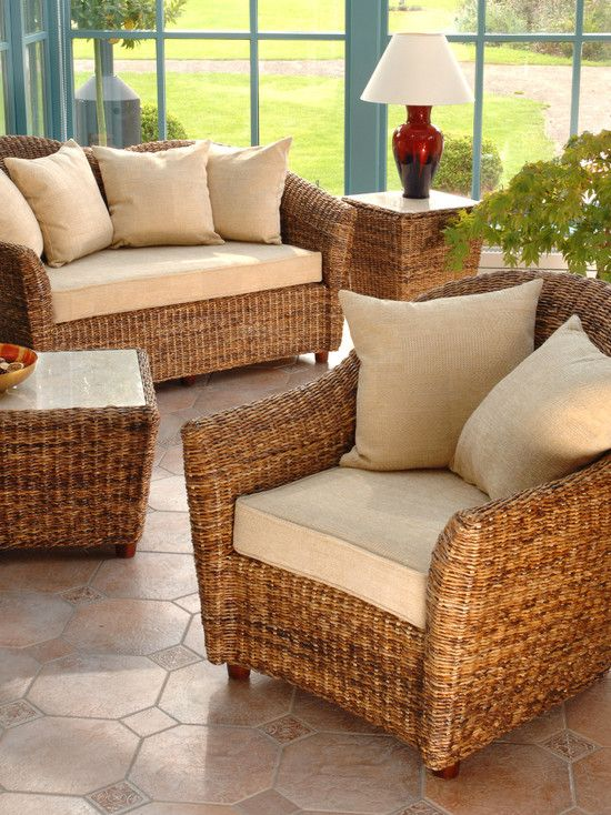 New modern rattan conservatory furniture ideas like rattan couch and armchair  also rattan lyboedz