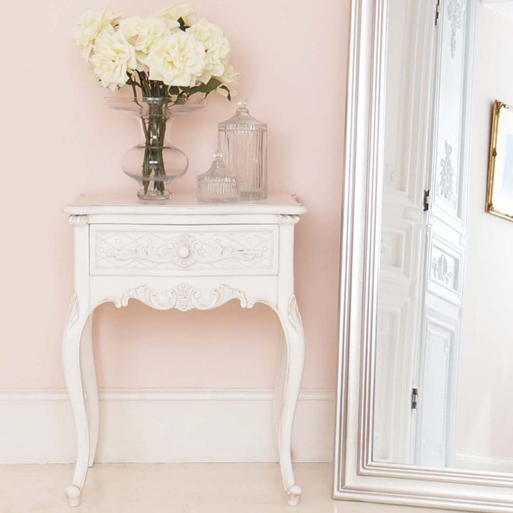 New provencal charm shabby chic bedside table xdldokl