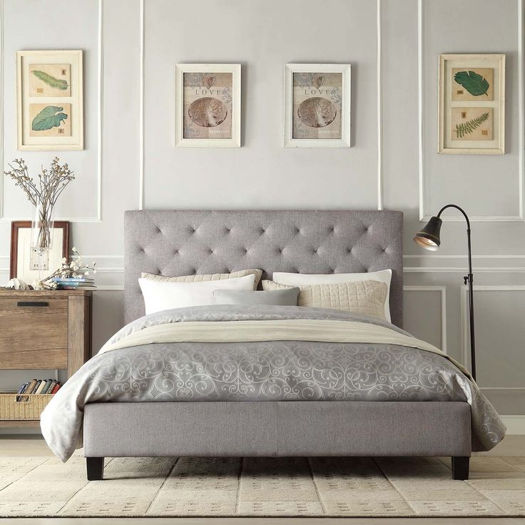 New upholstered bed headboards this elegant platform bed features a button-tufted headboard and durable  linen upholstery. ryeiumx