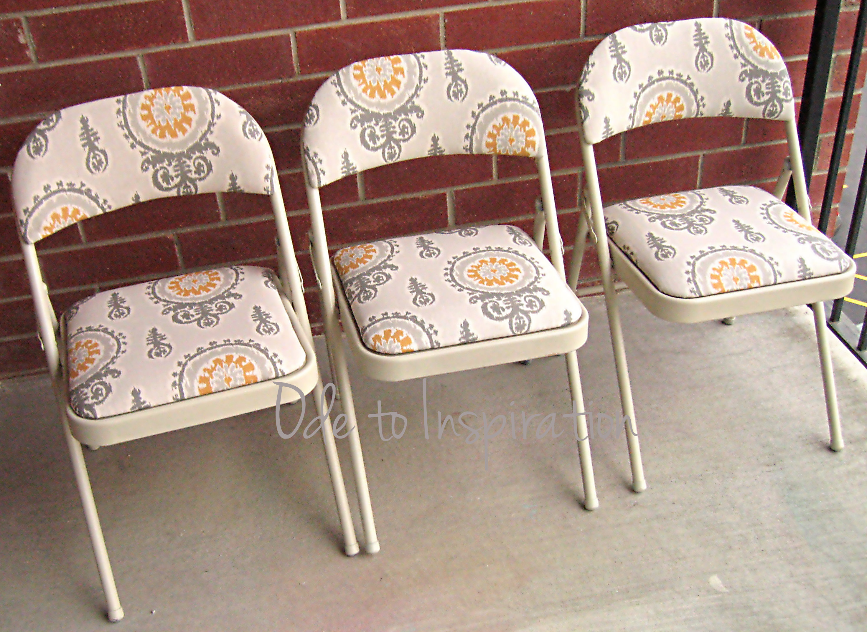 New upholstered folding chairs makeover rzpiarq