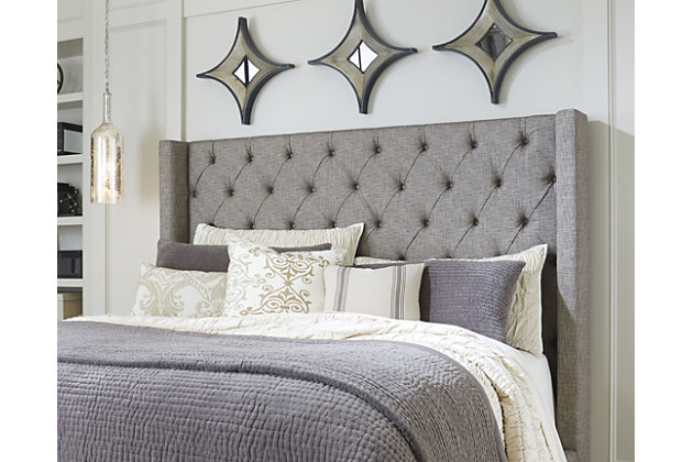 New upholstered queen headboard home; sorinella queen upholstered headboard. bedroom decorating idea with  this furniture byfvvku