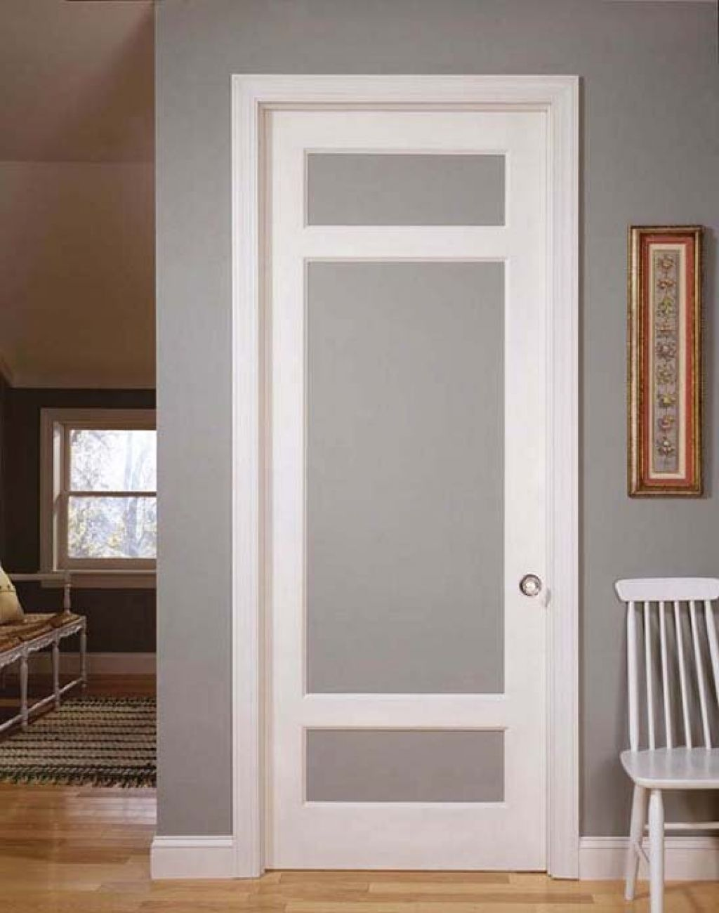 How to diy interior frosted glass doors