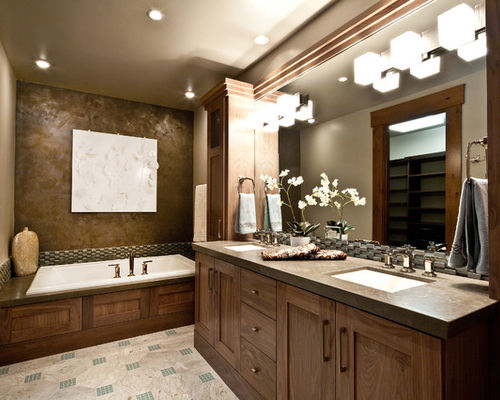 Photos of bathroom recessed lighting trendy bathroom photo in salt lake city with an undermount sink, shaker xsgjgwc