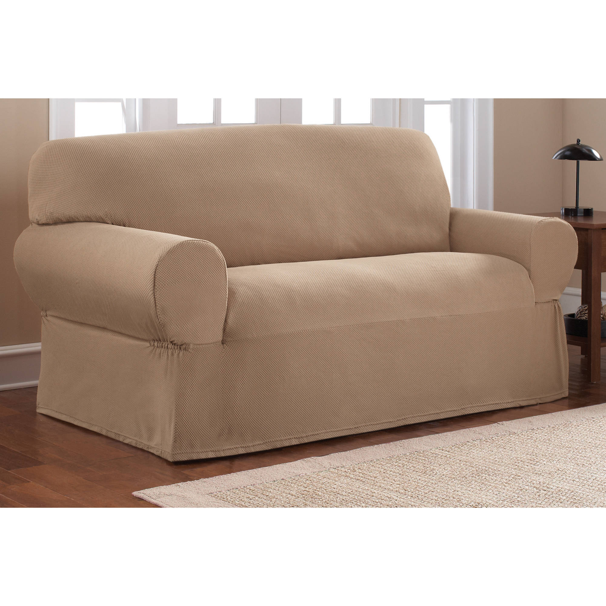 Photos of couch and loveseat covers mainstays 1-piece stretch fabric loveseat slipcover - walmart.com bfeaygk