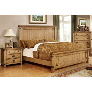 Photos of country bedroom furniture furniture of america sierren country style 3-piece bedroom set wfezbfs