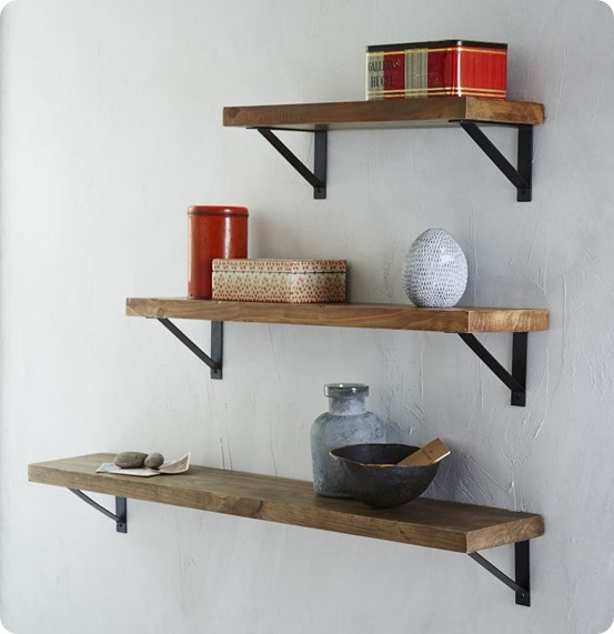 Photos of ... wood and metal wall shelves set of 3 12 depth floating wood wnfavlt
