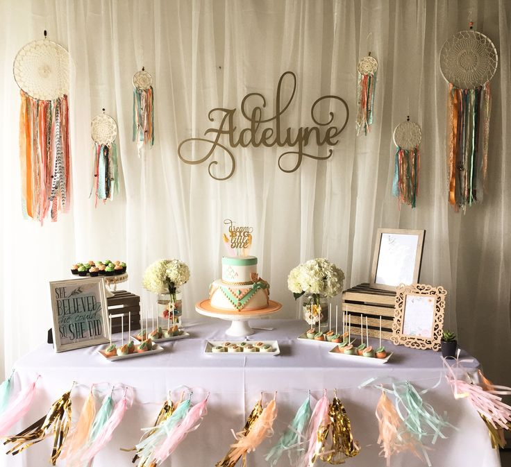 Pictures of baby shower table decorations dessert table @ boho baby shower bpihhto