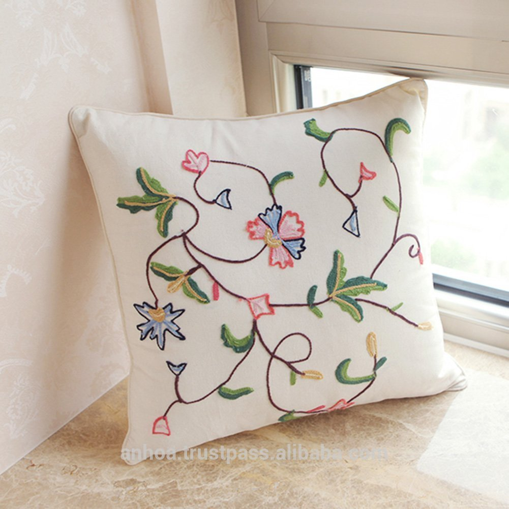 Pictures of embroidered cushion covers linen embroidery flower pattern cushion cover ghxndth
