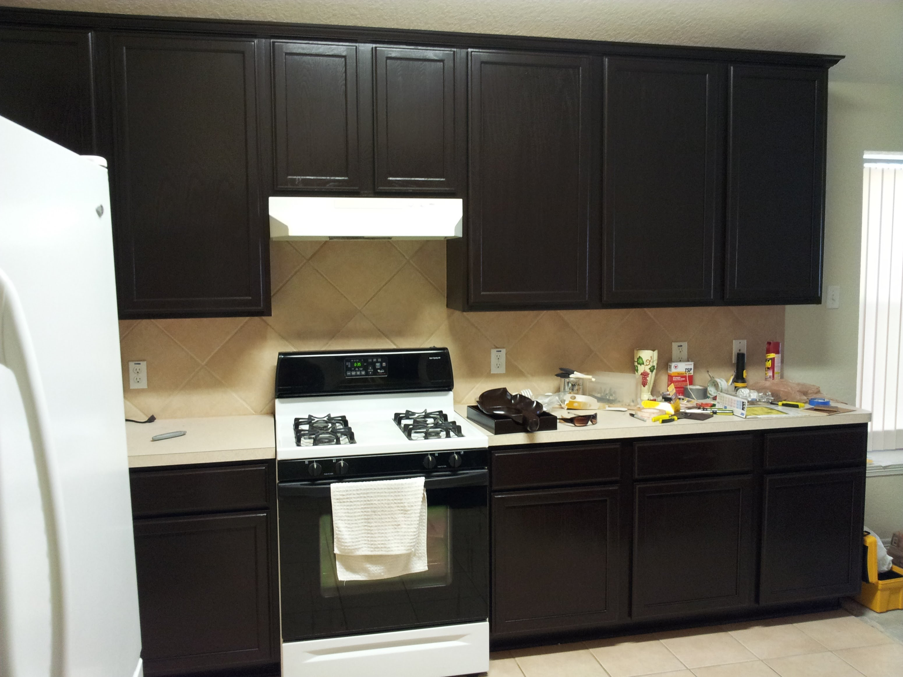 Pictures of gel staining kitchen cabinets - youtube axowzgt