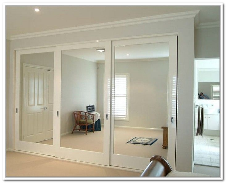 Make the most out of glass sliding closet doors