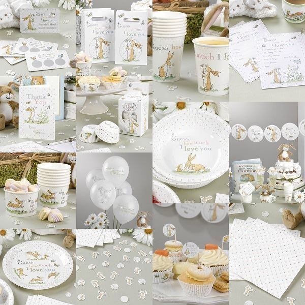Pictures of guess how much i love you unisex baby shower decorations party neutral subuyhy