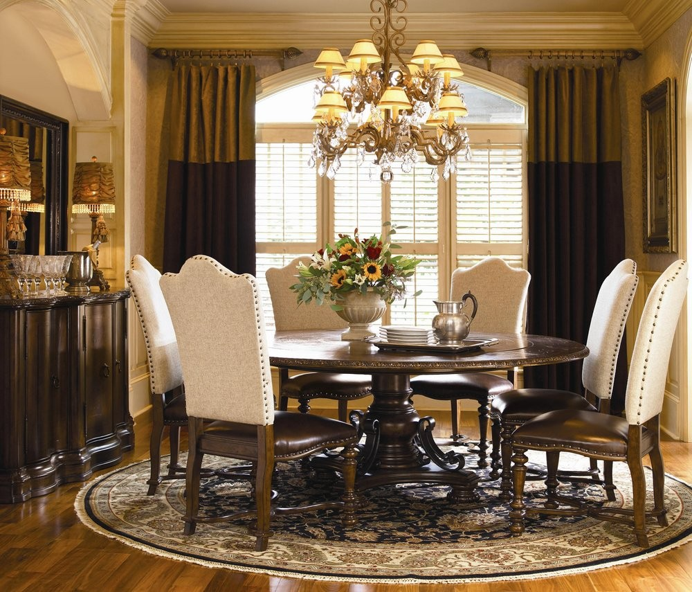 Pictures of round dining room table sets buy bolero round table dining room set by universal from www qccyjuu