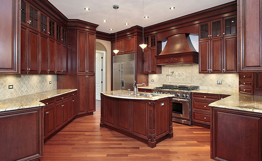 Pictures of solid wood kitchen cabinets solid wood kitchen cabinet designs. cherry wood kitchen with light granite  counter peljlyd