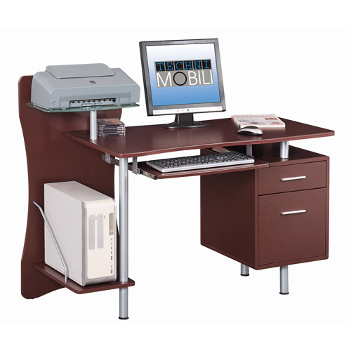 Pictures of techni mobili computer desk with storage, chocolate vknhkpr