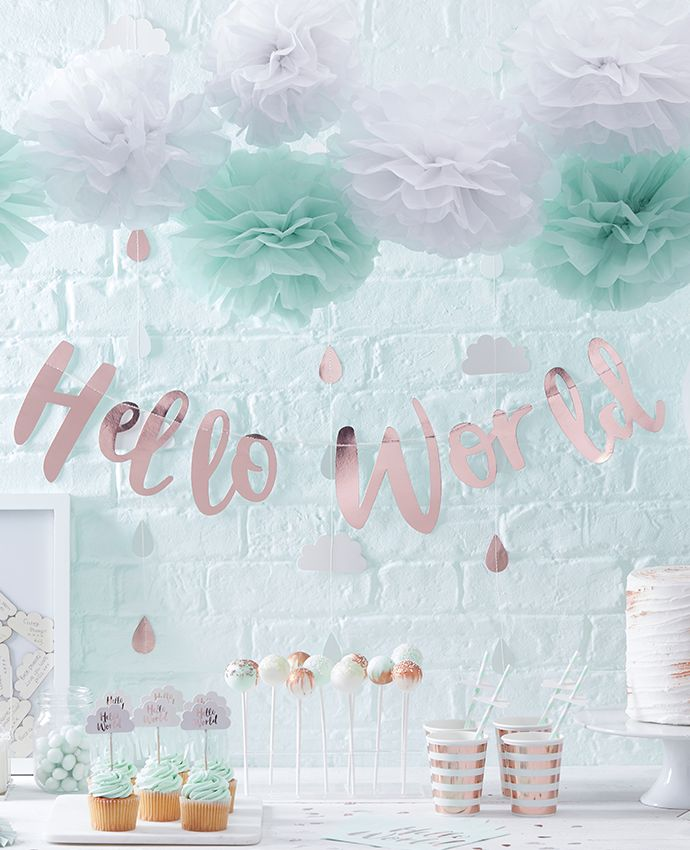 Popular baby shower theme decorations our hello world baby shower supplies make such a lovely party theme - ocnqyle