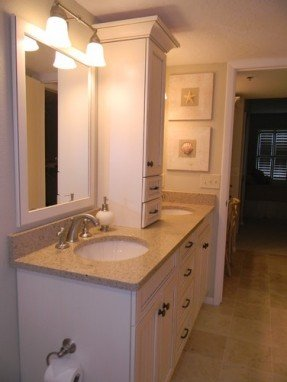 Popular bathroom countertop storage cabinets double vanity with storage tower countertop - bamboo - silestone wesbusb