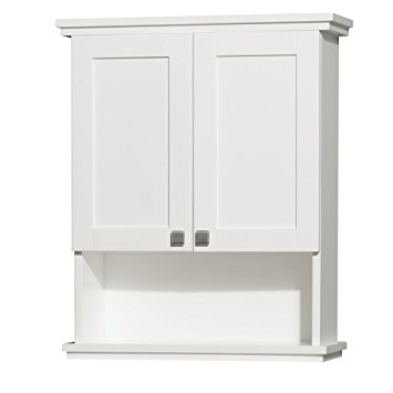 Popular bathroom wall storage cabinets wyndham collection acclaim solid oak bathroom wall-mounted storage cabinet  in white zodubio