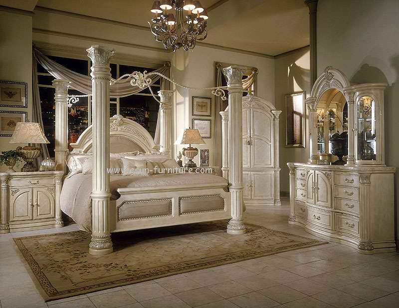 Popular ... chic and creative king bedroom furniture sets 1 big post bed size hqdsbdj