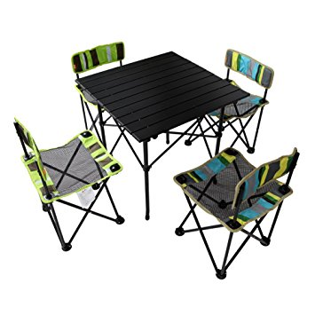 Popular folding camping table and chairs yodo 5-in-1 foldable kids picnic table and chairs set for family outdoor bkjyvzx