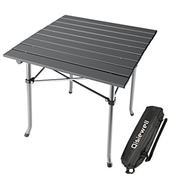 Popular lightweight folding table qisiewell camping table aluminum outdoor folding beach table compact  lightweight portable small ielrjku