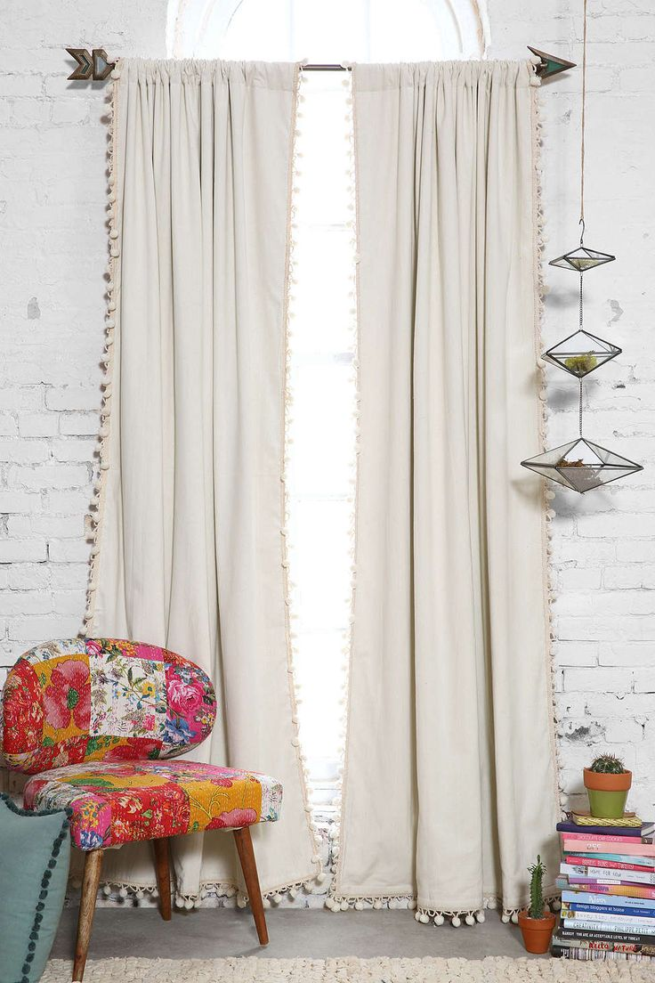 Stunning bedroom blackout curtains blackout pompom curtain cgzamto
