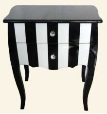 Stunning black and white bedside table reduced from to - while stocks last on this beautiful black and white acyldmf