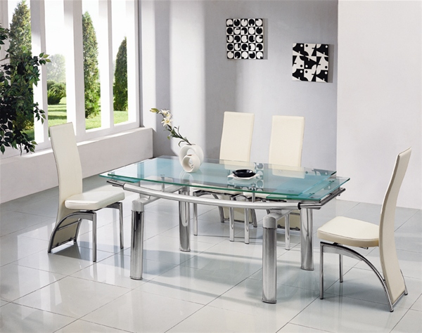 Stunning glass dining table and chairs dining table and 8 chairs modern dining sets expandable glass dining table apzaowv