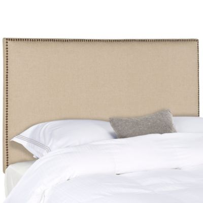 Stunning headboards for double beds safavieh sydney brass nail button full headboard in hemp mekzeut
