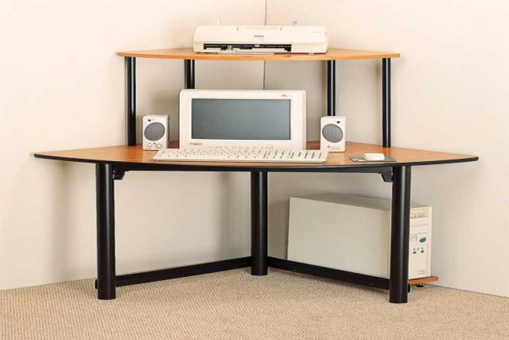 Stunning image of: small corner computer desk design qcgvzsb