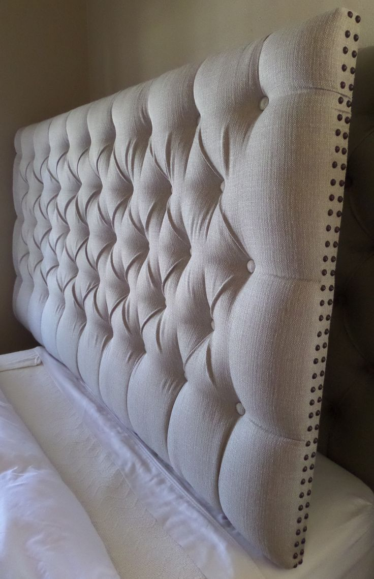Stunning king size tufted headboard king sized extra thick extra tall tufted upholstered headboard neutral tan  taupe smjqpht
