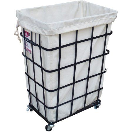 Stunning laundry basket with wheels better homes and gardens rectangular caged hamper with wheels, black ystnedd