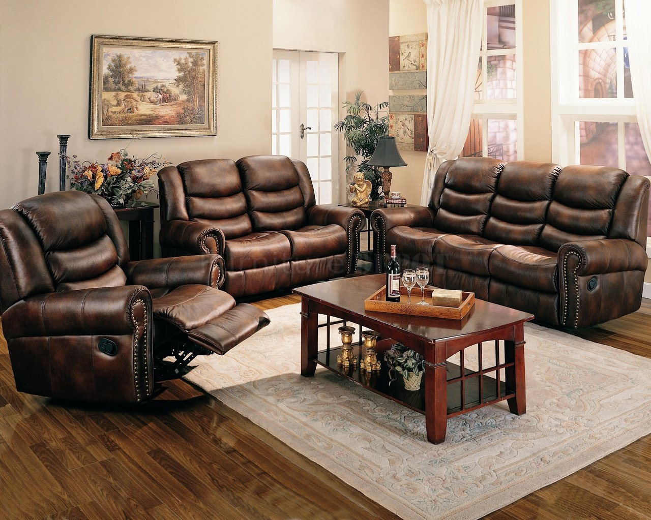 Stunning leather living room furniture - 2 drqdglu