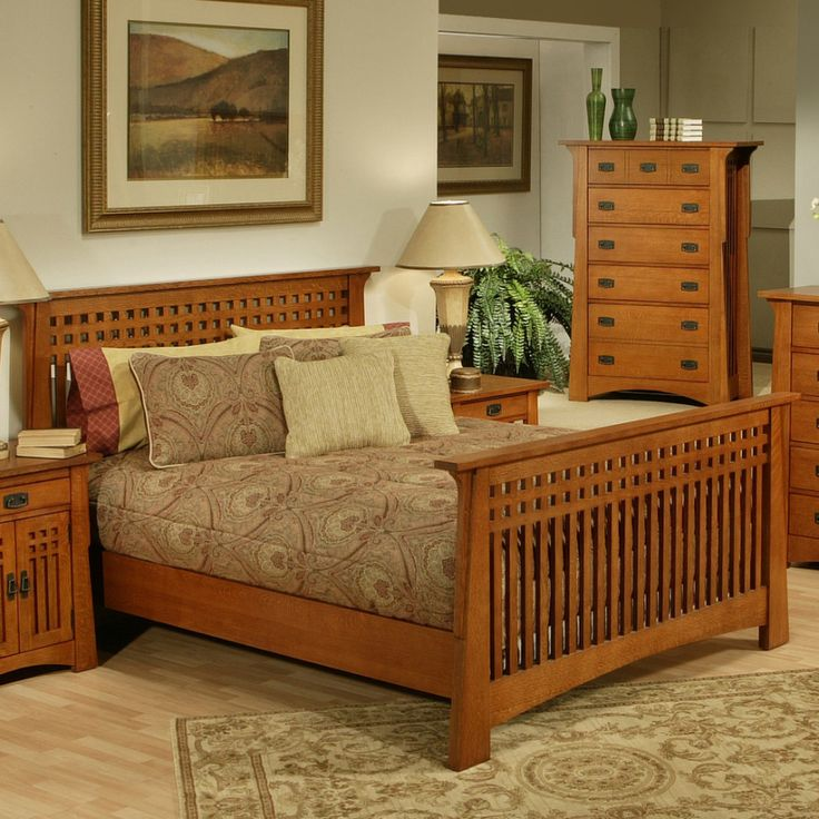 Stunning solid wood bedroom furniture have wood bed frame between lampshades on wood mjqvtyx