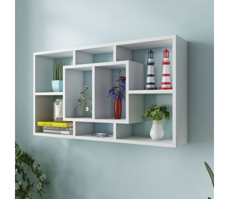 Stunning wall mounted display shelves vidaxl floating shelf hanging storage unit wall mount display rack white/oak qvrftae