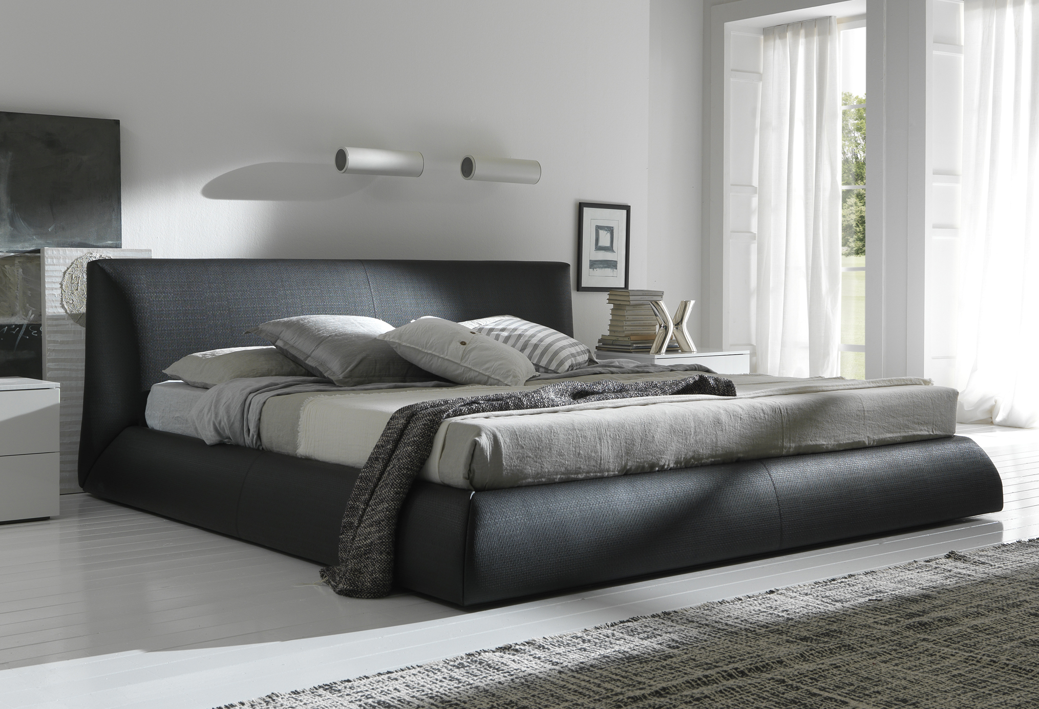 Stylish black king size bed frame bedroom futuristic decorating king size beds for sale ewuodhj