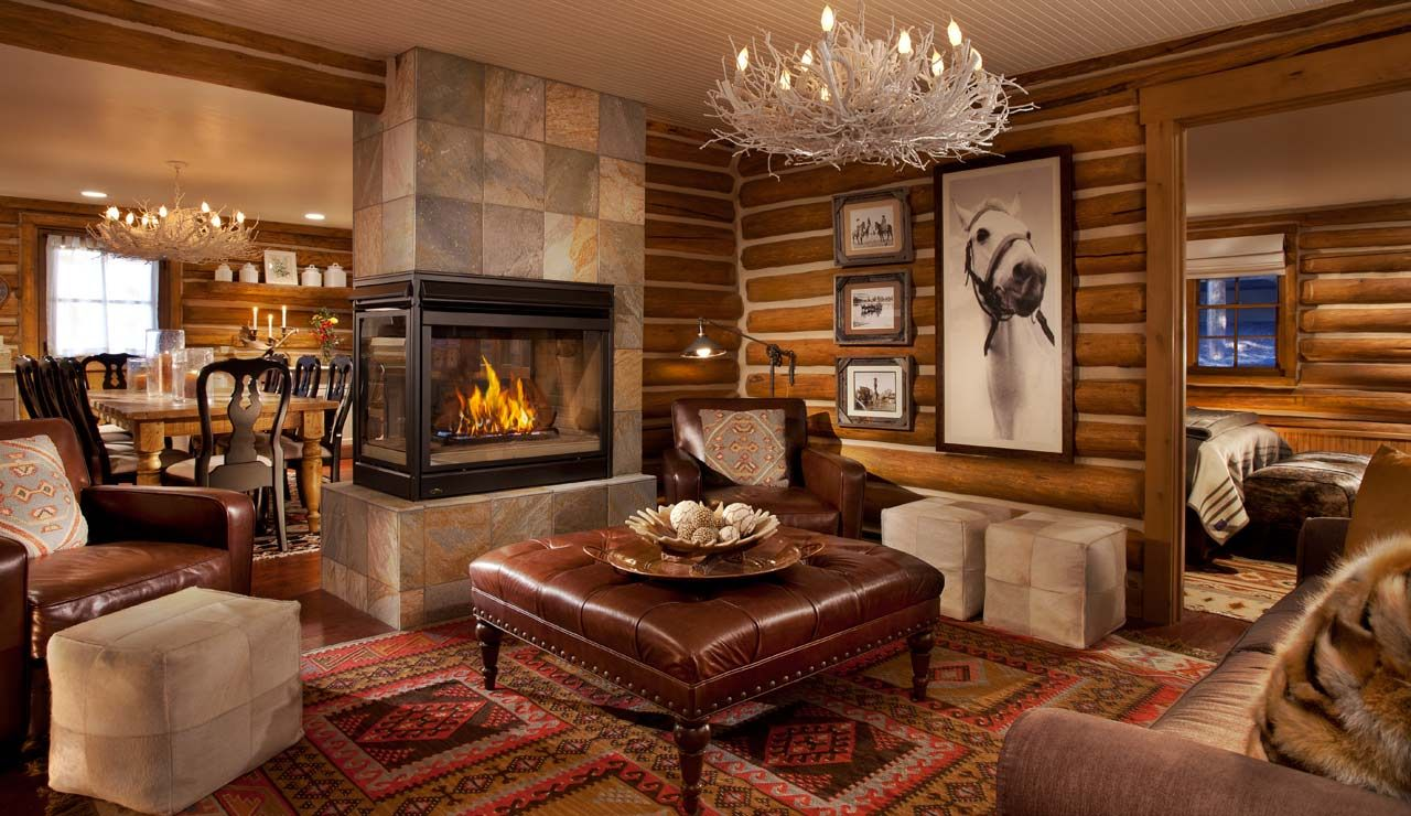 Stylish image of: rustic living room furniture with fireplace psdvfdg