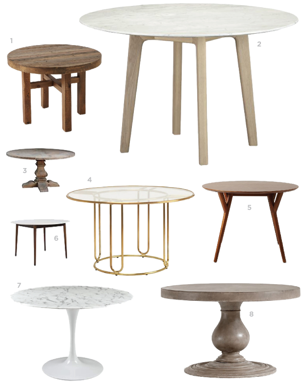 Stylish small round dining table round dining table, marble dining table, small dining table, blair culwell,  fox pbzmapo