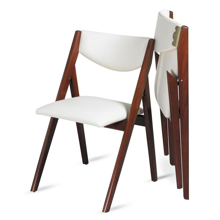 Stylish upholstered folding chairs oooh, look at this modern take on a folding dining chair! a-frame design bmhetgx
