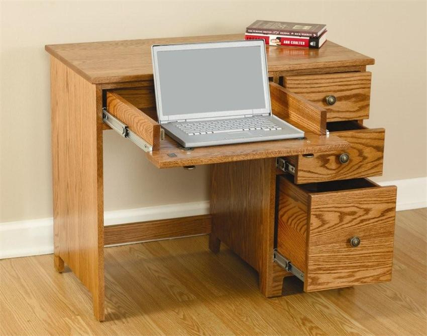Trendy computer desk with drawers amish berlin economy desk with drawers ggeilit