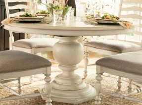Trendy round pedestal dining table linen* cogrqte