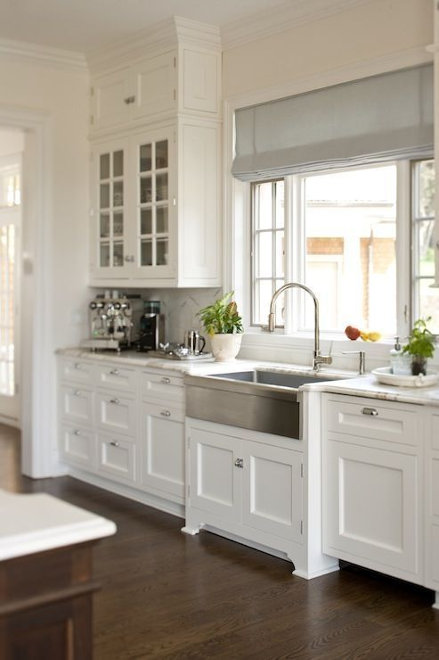 Trendy shaker style kitchen cabinets love this kitchen with white shaker style cabinets, carrera marble, and a iehslgz