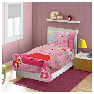 Trendy toddler bed and mattress set peppa pig 4 pc toddler bed set - pink ezhivqu