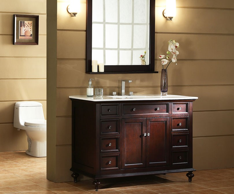 Trendy traditional bathroom vanities xylem glenayre 48u0027u0027 traditional bathroom vanity ... hgnmlqp